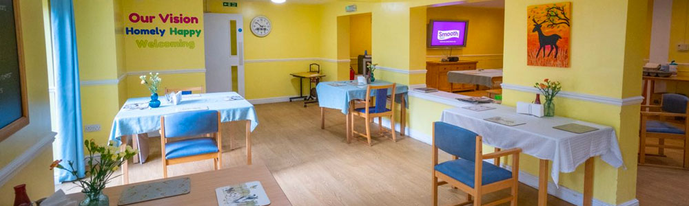 Our Nursing Home provides a bright, cheerful dining facility